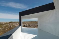 Fogo Island Long Studio / Saunders Architecture framed view / window / canopy / contrast between inner and outer Backyard Canopy, Garden Canopy, Pergola Canopy, Canopy Outdoor, Canopy Tent, Gazebo, Window Canopy, Beach Canopy, Canopy Curtains
