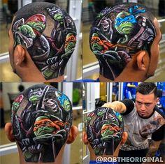 Rob The Original  hair tattoo design ninja turtle