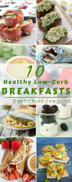 10 Healthy Low-Carb Breakfast Recipes – Our favorite delicious and diabetic friendly breakfast. Pancakes, omelettes, toast, eggs and bacon. It's all here!  via @TheFitBlog