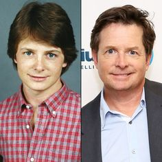 then and now Michael J. Actors Then And Now, Celebrities Then And Now, Young Celebrities, Celebs, Famous Men, Famous Faces, Bad Celebrity Plastic Surgery, Michael J Fox, Old Movie Stars