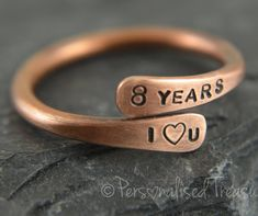 Bronze Ring Anniversary 8th Gift Gifts Jewelry For Her