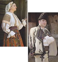 Gorj, Oltenia (Wallachia) Folk Costume, Costumes, Ethnic Diversity, Folk Clothing, Folk Embroidery, Folk Art, Sari, The Incredibles, Culture
