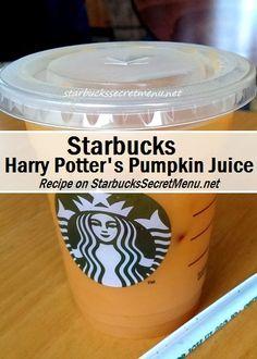 Harry Potter and Starbucks fans, we present #Starbucks Pumpkin Juice! #starbuckssecretmenu how to order: http://starbuckssecretmenu.net/harry-potters-pumpkin-juice-starbucks-secret-menu/