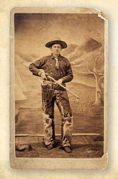 While trailing cattle to Kansas in the deadly John Wesley Hardin holed up with his Winchester rifle and shot it out against a group of men pursuing him. This unknown cowboy from Caldwell is ar Sheriff, Old West Outlaws, Westerns, Old West Photos, Into The West, The Lone Ranger, Cowboys And Indians, Western Art, Western Photo