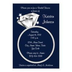 ReviewDiamond Ring Bridal Shower Invitation Navy Bluewe are given they also recommend where is the best to buy