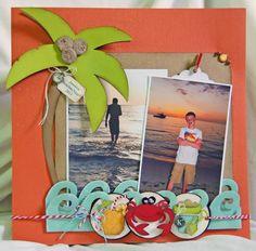 beach scrapbook page a