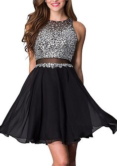 Lovelybride Mock 2 Pieces Homecoming Dress Short Prom Party Evening Gowns