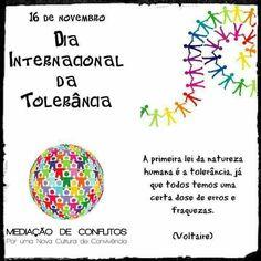 ℹ️Pelo diálogo e pela comunicação, tolerância precisa-se, cada vez mais, pois todos nós somos humanos e como tal erramos, porque ainda não, ainda ninguém é perfeito.  Siga pelo caminho da tolerância! 👌 https://www.facebook.com/mediacaoconvivencia/photos/a.189398997860928.47724.189087517892076/1141187329348752/?type=3&theater