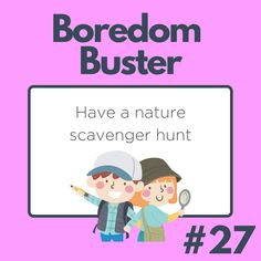 What can you find on your nature scavenger hunt? Nature Scavenger Hunts, Boredom Busters, Family Guy, Guys, Comics, Fictional Characters, Cartoons, Fantasy Characters, Sons