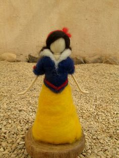 Snow white and seven Gnomes Needle Felted waldorf by telepelekids