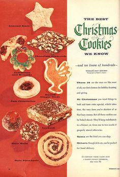 """The Best Christmas Cookies We Know"" #vintage"