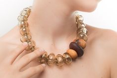 Materiaprima | FW2013/14  #Necklace #Glass #Murano #Wood #Contemporaryjewels