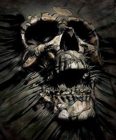 I choose this skull because it represents Hamlet fighting between his views on life and death. In the picture it looks like there is still some type of skin on the skull. The skull has a expression of agony which also reminds me of hamlet.