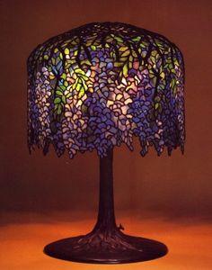 Tiffany wisteria art nouveau style table lamp c 1902 leaded glass tiffany studios wisteria table lamp aloadofball Image collections