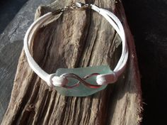 Scottish Sea Glass Silver Plated Infintiy by byNaturesDesign, $12.00