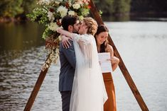 Small outdoor wedding on lake beach during the fall in the Adirondacks in Upstate New York. New York wedding packages. Upstate NY elopement packages. Adirondack Park, Lake Beach, Upstate New York, Lake George, Outdoor Weddings, New York Wedding, Family Portraits, Fall, Family Posing