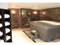 indoor hot tub and spa area dream home pinterest hot tub room basement ideas and indoor. Black Bedroom Furniture Sets. Home Design Ideas