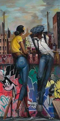Ideas black art painting woman frank morrison for 2019 Art Black Love, Black Girl Art, Art Girl, African American Artwork, African Art, American Artists, Black Art Painting, Black Artwork, Frank Morrison Art