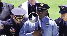 "He Starts Singing ""Amazing Grace"" For A Fallen Soldier. But When 2 Officers Approaches Him? OMG!"