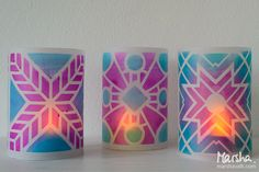 """Today, Marsha Valkfrom my Creative Squad is sharing a wonderful and illuminating project using my small Santiago, Toledo, andBuenos Aires stencilsfor this month's theme: """"Return to the Light."""" As…"""