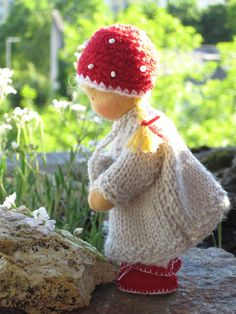 Little Toadstool, 4,5 in by Puppenliesl, via Flickr