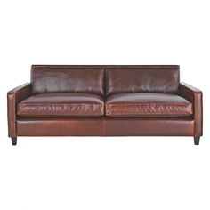 chester tan leather 3 seater sofa dark stained feet