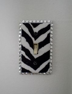 ZEBRA PRINT & BLING Switchplate Zebra Print by LaurieBCreations, $7.50