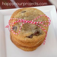 Classic Soft Chocolate Chip Cookies (substitute 1 c. butter for 1/2 c. vegetable oil)