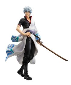 24.99$  Watch now - http://alisks.shopchina.info/1/go.php?t=32719190174 - High Quality!!! MegaHouse Silver Soul Gin Tama Gintama Sakata Gintoki Brinquedos PVC Action Figure Colletion Model Toys 22cm S74  #magazine