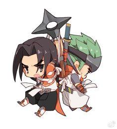 Young Hanzo and Genji