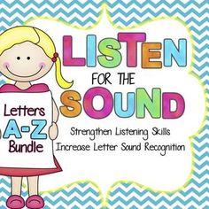 Listen for the Letter Sound Activity Bundle  - Letters A-Z