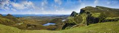 Panorama of the Quiraing, Isle of Skye, Scotland. 4 X 36MP RAW Files taken with the Sony A7R and then stitched together in Photoshop and edited with Nik Software .  PLEASE CLICK THROUGH it looks great a lot bigger!