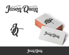 Jason Quan or my Intials - Design and Create a Personal Branding Logo for Me I am just looking for a personal logo to put onto my personal business cards. Personal Logo, Personal Branding, Custom Logo Design, Custom Logos, Graphic Design, Craft Business, Business Logo, Logos Cards, Hand Logo