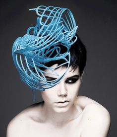 """Blue Jay"" hat by Emma Yeo FW 2011 - photo by Haze"