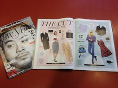 "Living It: ~Kyle Hilton ""New York Magazine.  I put together six paper dolls based on six different careers and their respective fashions for the magazine's style section The Cut.  Extensive research on the part of the editorial team and designers made for a lot of fun, rich details to work with.  Working to get some much better images of the final layout, but until then, here's a look at some of the bare artwork and some in-print shots of a few pages."""