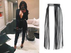 YVY - Kylie Jenner wearing YVY`s  leather Fringe Belt -  http://yvy.ch/product/1001-fringe-belt/