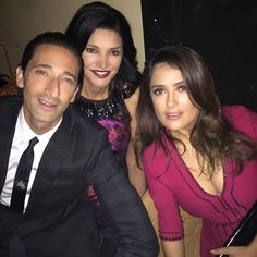 At the after party for Septembers of Shiraz premiere with my co-stars - lovely Adrien Brody and Shohreh Aghdashloo. #TIFF