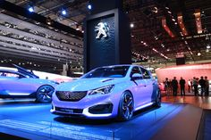 #Peugeot308RHybrid at the #IAA15 ! #motorshow #hybrid #exhibition