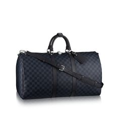 LOUIS VUITTON Official USA Website - Discover the iconic Louis Vuitton Keepall 55 in Damier Cobalt canvas. A timelessly elegant & distinctively modern bag. Louis Vuitton Keepall 45, Tienda Louis Vuitton, Sacs Louis Vuiton, Louis Vuitton Handbags, Vuitton Bag, Collection Louis Vuitton, Lightweight Travel Bag, Designer Travel Bags, Travel Accessories For Men