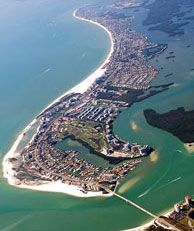 """Fort Myers Beach...one of the """"World's Safest Beaches"""" because of no undertow & shallow water."""