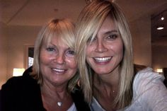 Heidi Klum Medium Straight Cut with Bangs