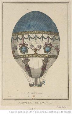 Aerostat de Bagnols : [expérience Bagnols sur Cèze, le 18 août 1784] : [estampe] - 1