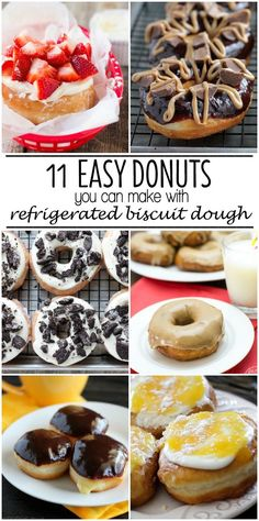 How to make homemade donuts with refrigerated biscuit dough! 11 yummy recipes to choose from!