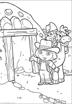 Map Showing The Location Of Dora Coloring Pages  Dora the