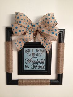 Jute wrapped picture frame wreath!