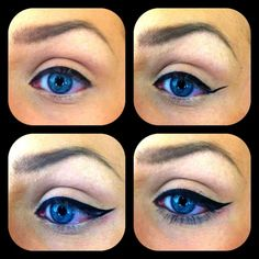Simple way to spice up the everyday look: winged eyeliner.