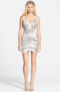 Herve+Leger+Embellished+Jacquard+Knit+Body-Con+Dress+available+at+#Nordstrom