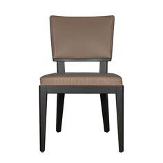 餐椅(B) 橡木实木框架+皮艺软包 W530*D590*H865 mm