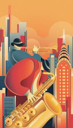 57 ideas music poster jazz art deco for 2019 Art Deco Artwork, Art Deco Posters, Cool Posters, Vintage Posters, Vintage Art, Art Deco Illustration, Tapetes Art Deco, Colores Art Deco, Pinturas Art Deco
