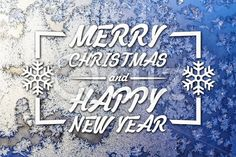 Qdiz Stock Images Merry Christmas and New Year greeting card,  #background #blue #blur #blurred #card #celebration #Christmas #eve #frozen #greeting #holiday #Merry #new #postcard #retro #season #snowflake #traditional #vintage #winter #xmas #year